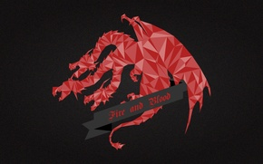 Картинка red, dragon, A Song of Ice and Fire, Game of Thrones, House Targaryen, Fire and …