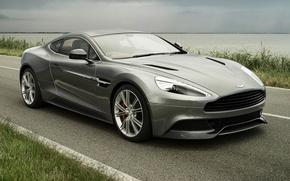 Картинка дорога, небо, Aston Martin, суперкар, передок, Астон Мартин, AM 310, Ванкуиш, Vanquish