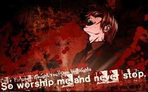 Картинка death note, Ягами Лайт, so worship me and never stop, yagami light, kira
