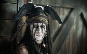 Картинка Johnny Depp, мужик, актер, Джонни Депп, The Lone Ranger, Одинокий рейнджер, Tonto