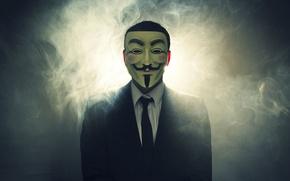 Картинка Suit, Mask, Anon