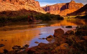 Обои США, скалы, горы, река Колорадо, природа