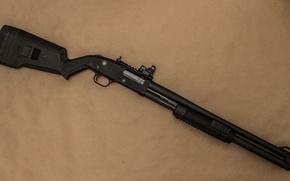 Картинка оружие, фон, ружье, помповое