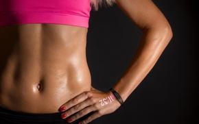 Картинка sexy, woman, watch, fitness, abs