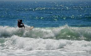 Картинка море, волна, сёрфинг
