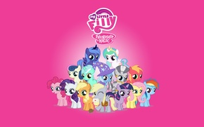 Обои Минимализм, Мультфильм, My Little Pony, Пони