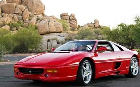 Картинка car, авто, Ferrari, red, красная, F355