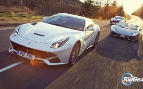 Картинка Roadster, Lamborghini, Top Gear, Aston, Martin, Ferrari, V12, LP700-4, Aventador, Supercars, Топ Гир, Berlinetta, F12, …