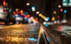 Картинка ночь, огни, улица