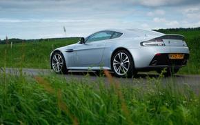 Картинка трава, green, Aston Martin, Vantage, автомобиль, V12