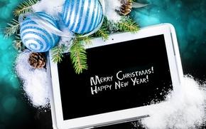 Картинка украшения, шары, Новый Год, Рождество, Christmas, balls, decoration, Merry