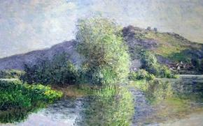 Картинка пейзаж, картина, Клод Моне, Острова в Порт-Вилле