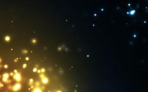 Картинка абстракция, фон, желтые, голубые, искры, fire and ice