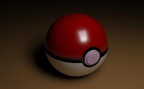 Картинка белый, красный, фон, коричневый, pokemon, покемоны, покебол