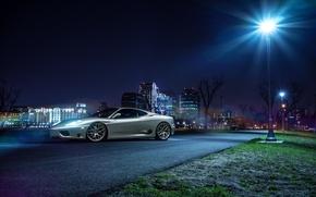 Картинка Ferrari, Car, 360, Front, Modena, Wheels, Avant, Garde, Ligth, Nigth