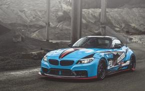 Картинка BMW, Blue, E89, Z4