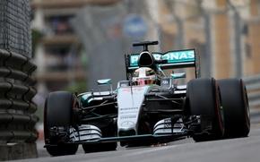 Картинка Mercedes, Formula 1, Monte Carlo, Hamilton, W06