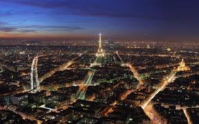 Обои париж, башня, города