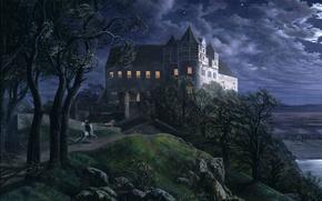 Картинка картина, живопись, painting, The Granite Dish in the Berlin Lustgarten, Erdmann Hummel