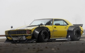 Обои Yellow, by Khyzyl Saleem, 1969, Future, Camaro, Tuning, Chevrolet