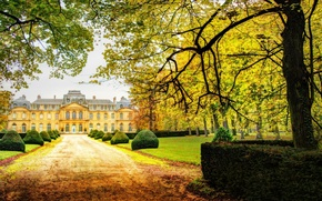 Картинка House, autumn, Garden, Château