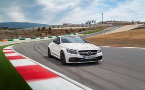 Обои Mercedes-Benz, мерседес, AMG, Coupe, C-class, 2015, C205