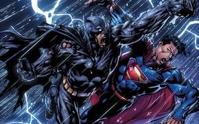 Картинка batman, superman, dark knight, man of steel