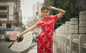 Картинка девушка, стиль, улица