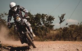 Картинка Поворот, Гонка, Мотоцикл, Мото, Rally, Dakar, Дакар, Экипировка