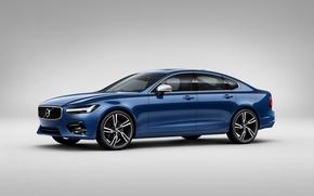 Обои вольво, S90, Sedan, Volvo, фон