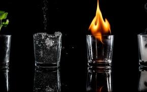 Картинка fire, smoke, water, Elementary