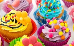 Картинка конфеты, сладости, крем, десерт, выпечка, сладкое, кексы