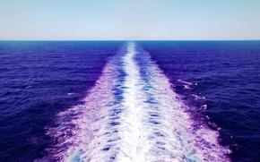 Картинка фиолетовый, море. след, оттенок