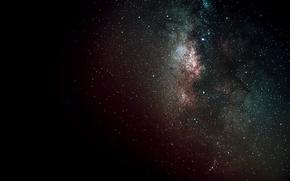 Картинка космос, звезды, черный, темный, галактика