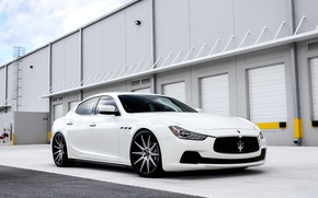 Картинка Maserati, wheels, Luxury, Ghibli, on 20, lowered