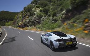 Картинка дорога, car, авто, McLaren, скорость, road, speed, 570GT