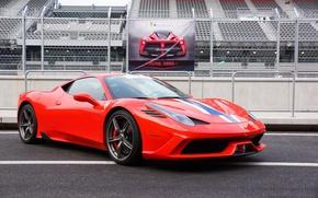Картинка Ferrari, Red, 458, Speciale