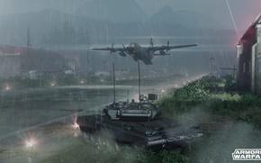 Картинка танк, самолёт, аэродром, Т-90, armored warfare