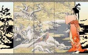 Обои японияситуация, девушка, кимоно