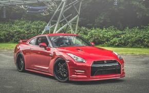 Картинка Red, GT-R, Black, NISSAN, Wheels