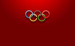 Картинка спорт, цвет, кольца, олимпиада, объем