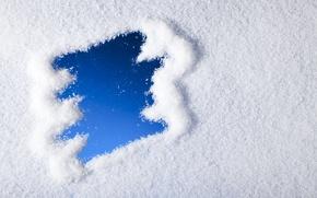 Картинка зима, снег, снежинки, blue, winter, snow