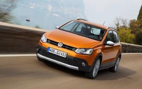 Картинка Volkswagen, Фольксваген, Передок, CrossPolo, КроссПоло