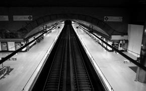 Картинка пути, метро, перрон
