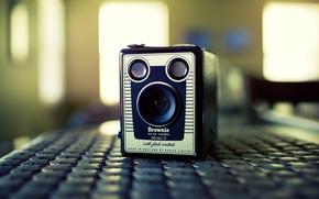 Картинка камера, объектив, старая