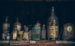 Картинка ретро, аптека, банки, склянки, THE MARRIAGE