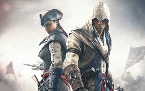 Обои Эвелин, Assassin's Creed III, Радунхагейду, Кредо Убийцы 3, Коннор Кенуэй