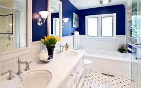 Картинка дизайн, стиль, комната, интерьер, ванная
