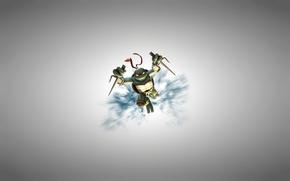 Картинка светлый фон, Рафаэль, TMNT, Raphael, Teenage Mutant Ninja Turtles, черепашки ниндзя
