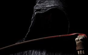 Картинка dark, black, Grim Reaper, scythe